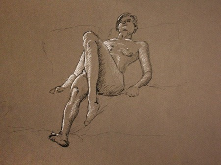 Figure Sketch - Laying Down