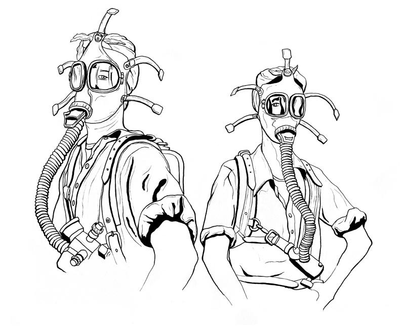 Gas Mask Ladies Inked | Greg Tatum