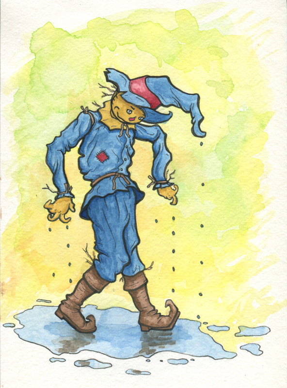 Scarecrow Watercolor Illustration